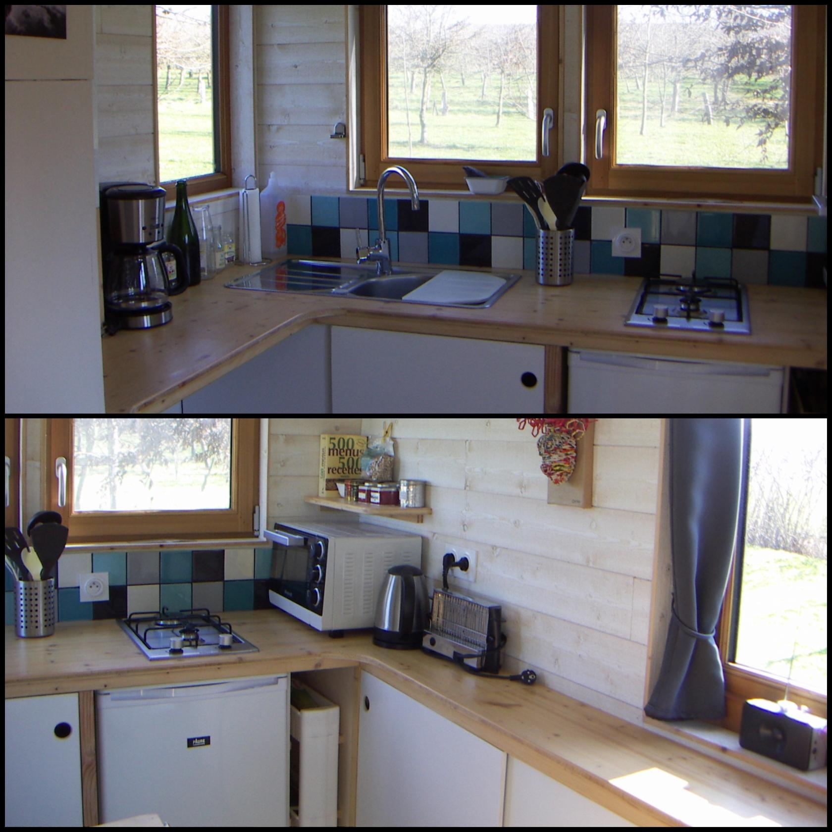 aménagement cuisine tiny house
