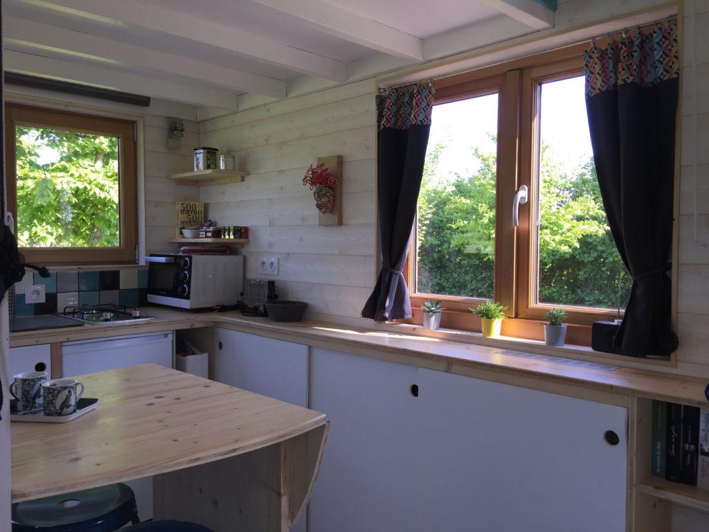 cuisine lumineuse tiny house