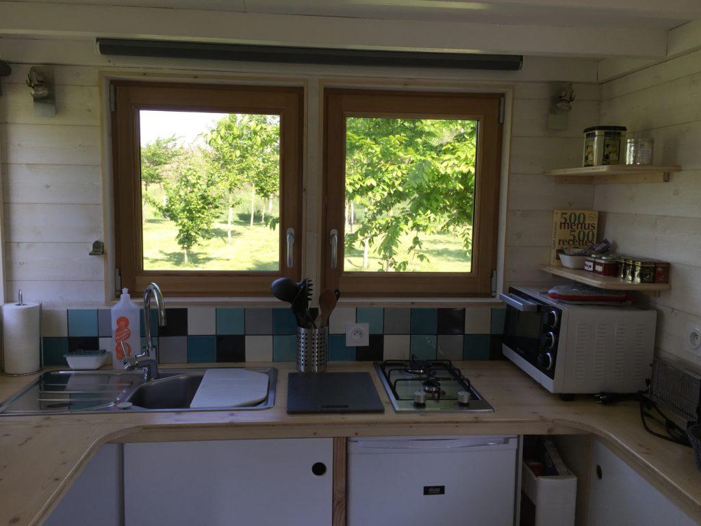 cuisine évier tiny house normandie