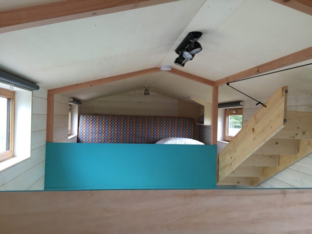 premier étage tiny house escalier escamotable