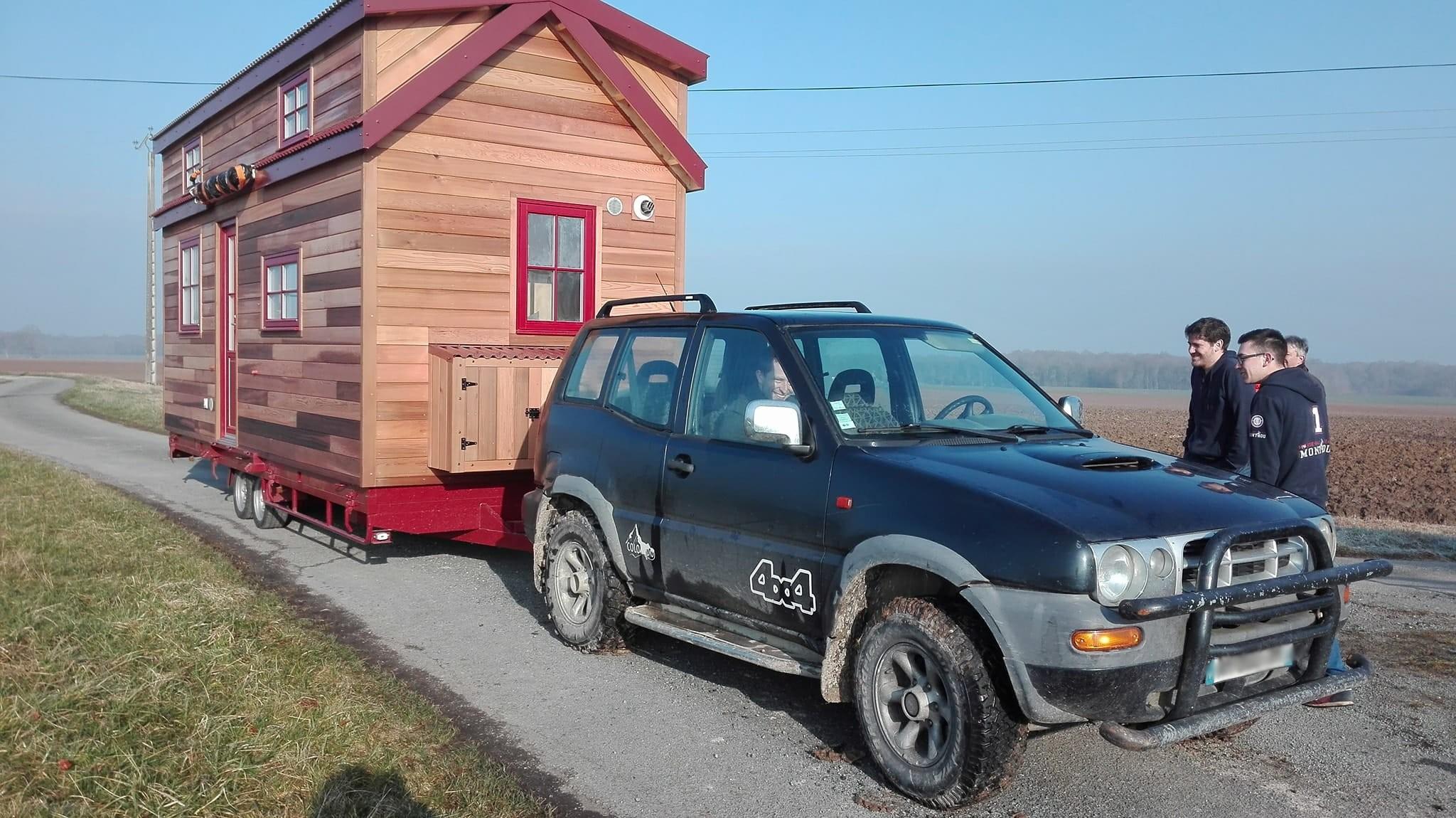 extérieure avec véhicule tracteur